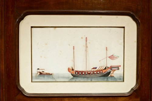 Asian Art & Antiques  - An Original Chinese 3-Panel Screen with 18 Rice Paper Paintings