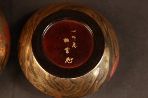 Antiquités - Original Natsume (Tea Box) signed : Toyo