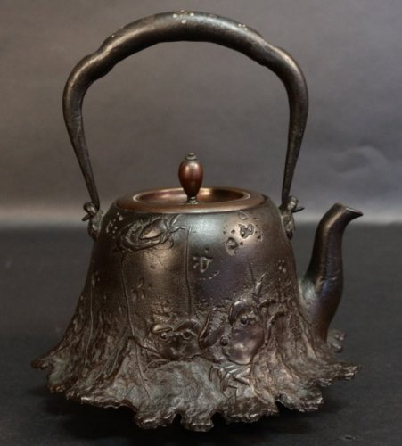 Asian Art & Antiques  - Very Nice Tetsubin (tea pot) Signed Ryubundo