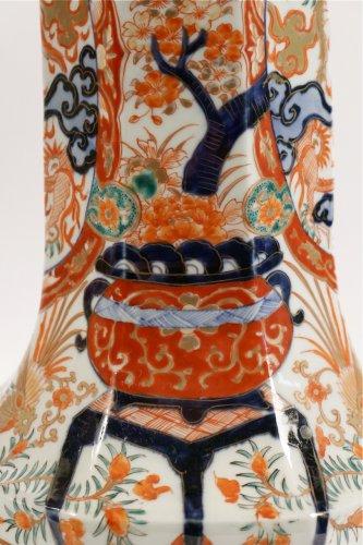 Asian Art & Antiques  - Pair of Japanese Porcelain Vases in Imari Enamels