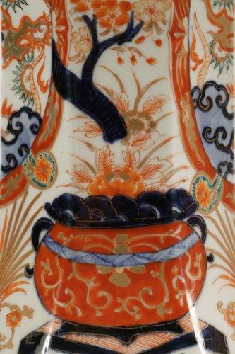 Pair of Japanese Porcelain Vases in Imari Enamels -