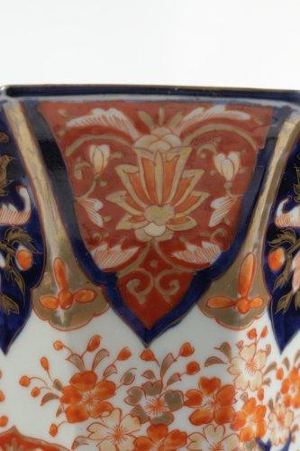 - Pair of Japanese Porcelain Vases in Imari Enamels