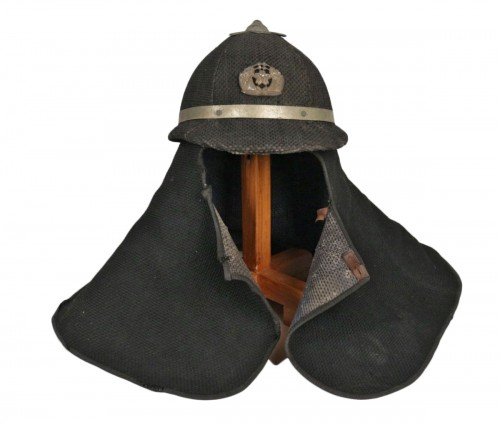 A Quite Unusual Japanese Firefighter Helmet in Cotton