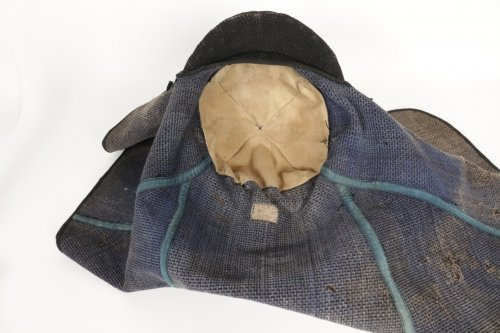 A Quite Unusual Japanese Firefighter Helmet in Cotton -