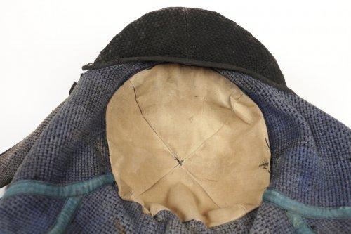 Antiquités - A Quite Unusual Japanese Firefighter Helmet in Cotton