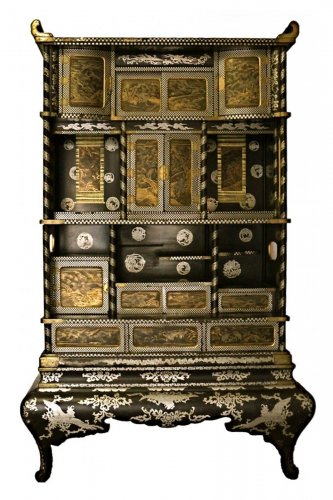 Large two-Part Lacquer Cabinet