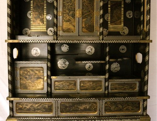 Asian Art & Antiques  - Large two-Part Lacquer Cabinet