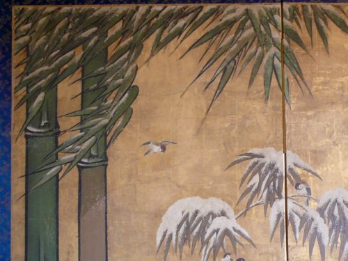 Asian Art & Antiques  - Japanese 2-Panel Screen, Kano School