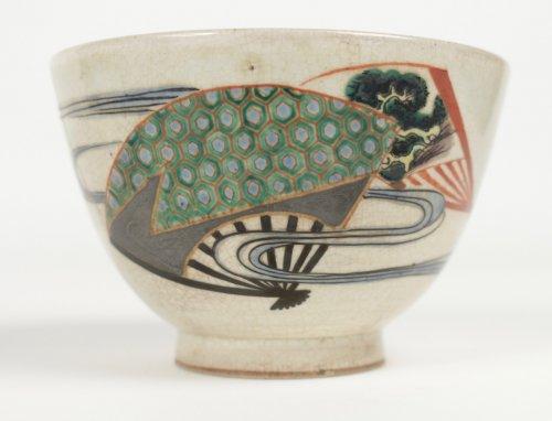 Chawan Stoneware Ninsei Type 19th Century - Asian Art & Antiques Style