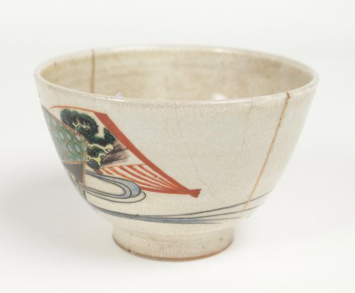 19th century - Chawan Stoneware Ninsei Type 19th Century