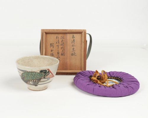 - Chawan Stoneware Ninsei Type 19th Century