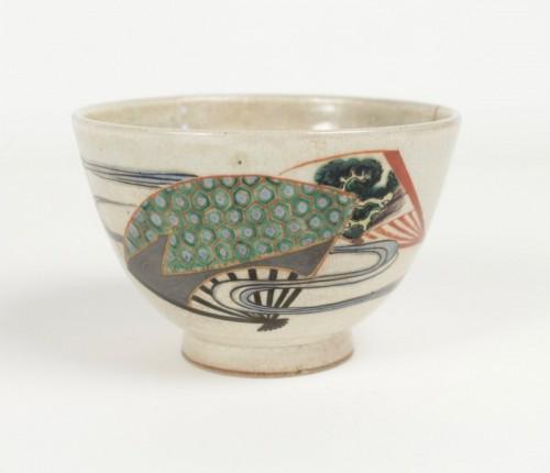Antiquités - Chawan Stoneware Ninsei Type 19th Century