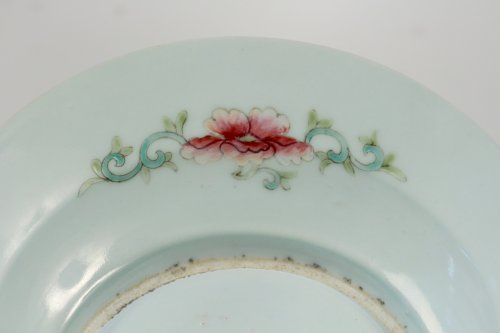 "Antiquités - Pair of Chinese Porcelain Plates ""Famille Rose"" Guangxu"