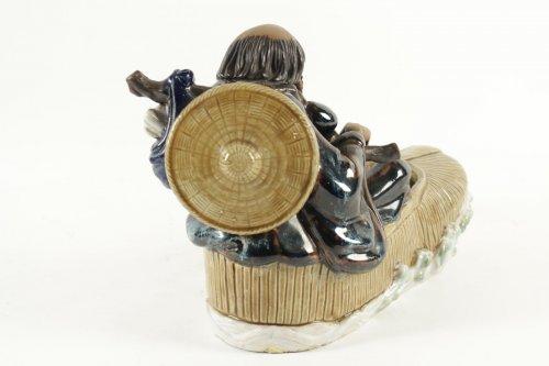 Chinese Figure Shiwan Sandstone -
