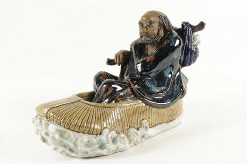 Antiquités - Chinese Figure Shiwan Sandstone