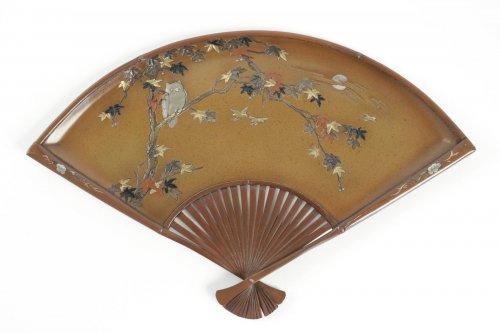 Japanese Bronze Fan Shape