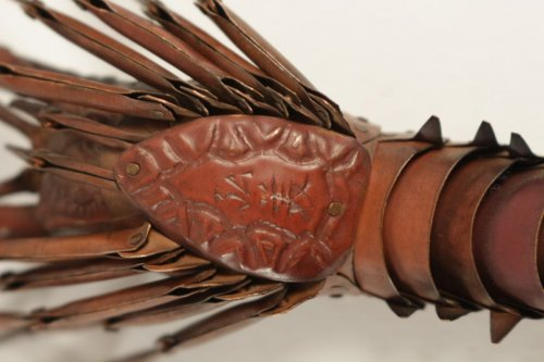 Japanese Articulated Copper Crayfish (jizaï) Signed Hiroyoshi -