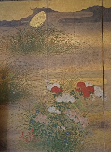 Asian Art & Antiques  - Japanese 6-Panel Screen of Rimpa School