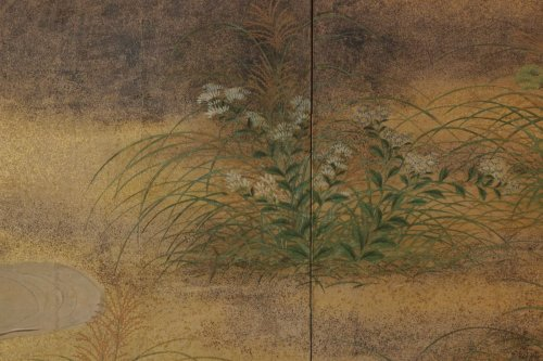 Japanese 6-Panel Screen of Rimpa School -