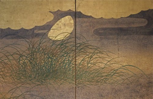 Antiquités - Japanese 6-Panel Screen of Rimpa School