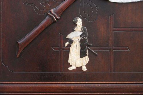 Coat rack, attribution Gabriel Viardot workshop - Asian Art & Antiques Style