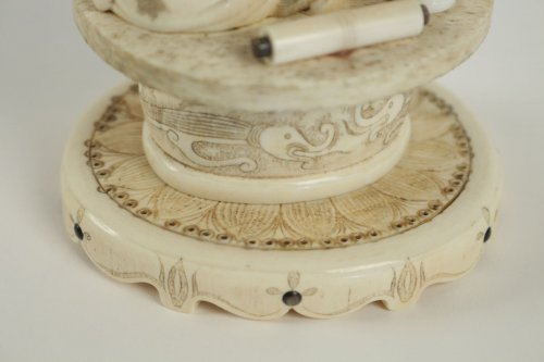 Antiquités - Beautiful Ivory Okimono of a Woman and Child