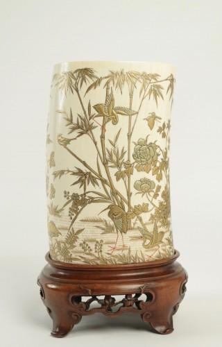 An Ivory Tusk Vase -
