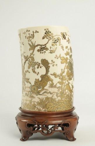 Antiquités - An Ivory Tusk Vase