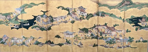 "Japanese Screen ""Genji Monogotari"""