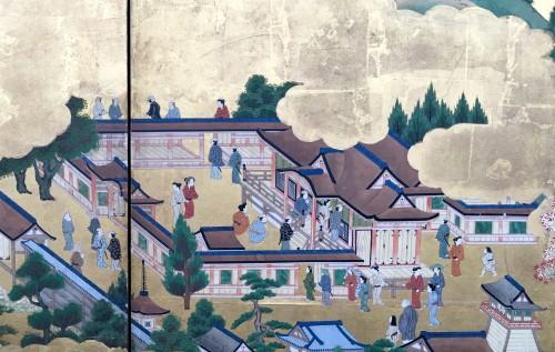 """18th century - Japanese Screen """"Genji Monogotari"""""""