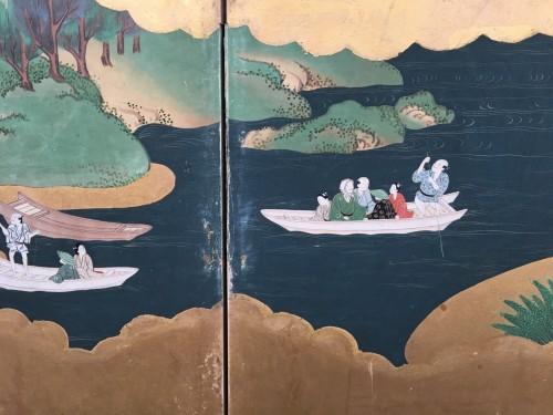 """Antiquités - Japanese Screen """"Genji Monogotari"""""""