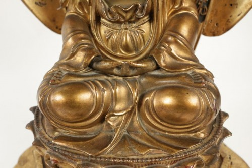 Antiquités - Fine Wooden Gold Lacquer Buddha