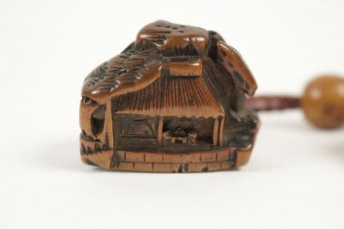 Asian Art & Antiques  - Inro à 3 compartiments à décor de danseurs
