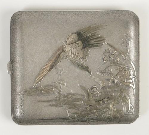 20th century - Lovely Japanese Silver Cigarette Box