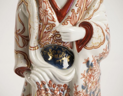 Asian Art & Antiques  - Two Japanese Bijin in Imari Enamels Porcelain