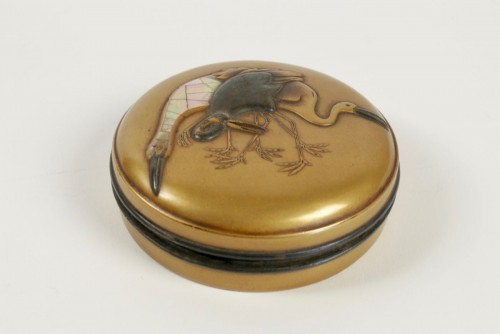 Gold Lacquer Incense Box - Asian Art & Antiques Style