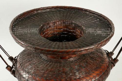 Asian Art & Antiques  - Impressive Ikebana Basket Hana-Kago