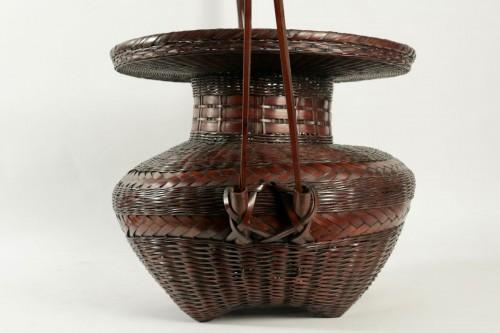 20th century - Impressive Ikebana Basket Hana-Kago