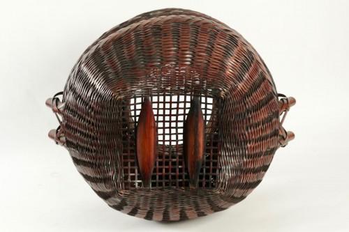 Antiquités - Impressive Ikebana Basket Hana-Kago