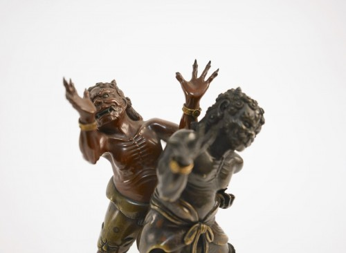 Finest Group in Bronze of 2 Demons (oni) -