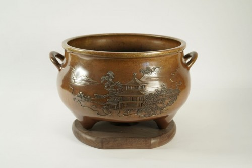 An Exceptional Kanaya Gorosaburo Brasero - Asian Art & Antiques Style