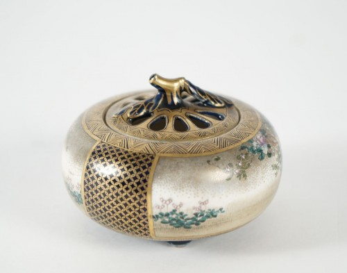 Satsuma Koro Incense Burner - Kinkozan - Asian Art & Antiques Style