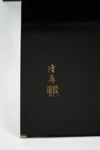 Antiquités - Katana kake on black ro-iro lacquered base