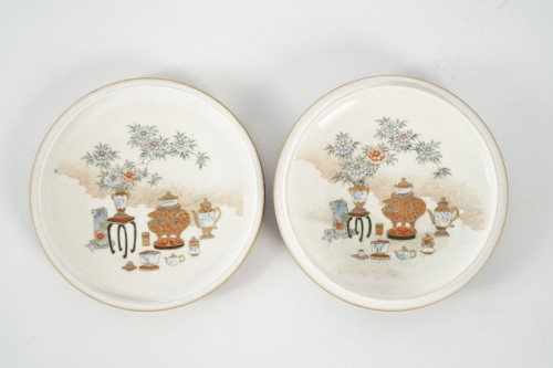 19th century - Covered Earthenware Box from Satsuma - Kinkozan