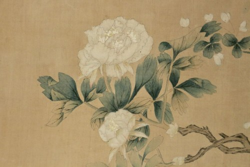Large Silk Chinese Painting Framed -