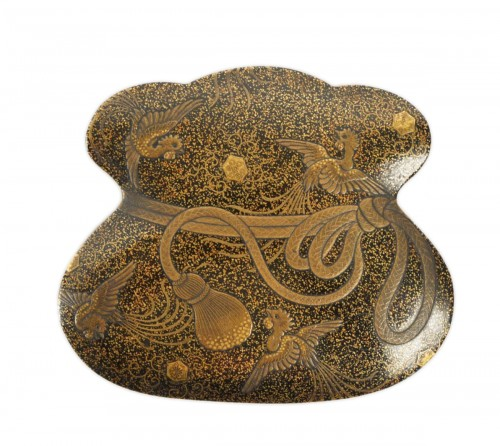 Japanese Covered Gold Lacquered Box