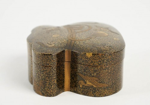 Japanese Covered Gold Lacquered Box -