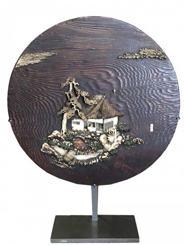 Decorative Panel of a Cottage on an Island