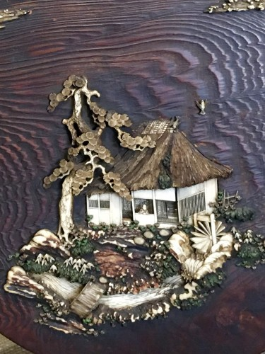 Decorative Panel of a Cottage on an Island -