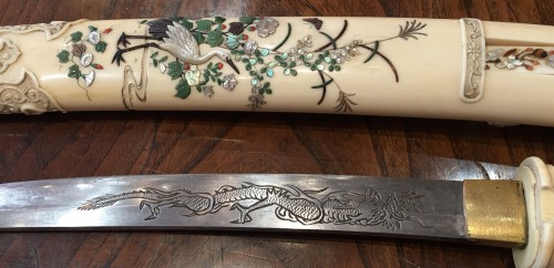 Antiquités - An Ivory and Shibayama style Tanto